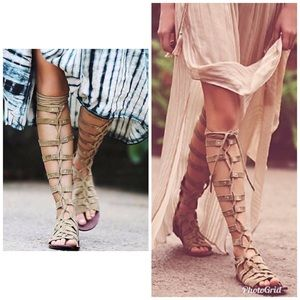 Free People Cypress Tall Gladiator Sandals Size 9